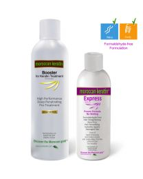 EXPRESS BOOSTER Moroccan Keratin Express Smoothing straightening treatment Formaldehyde Free with Booster