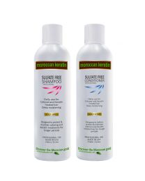Moroccan Keratin GOLD SERIES Sulfate Free Shampoo & Conditioner 2pc SET