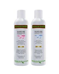 Moroccan Keratin GOLD SERIES Sulfate Free Shampoo & Conditioner 2pc SET